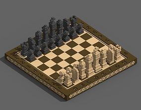 Voxel Chess 3D asset realtime