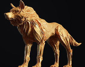 Wolf shaman 3D printable model PBR