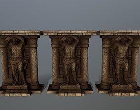 3D asset low-poly sculpture statue 2