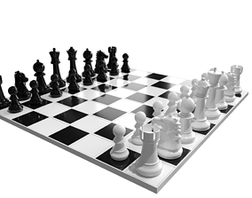 3D model chess Chess Board