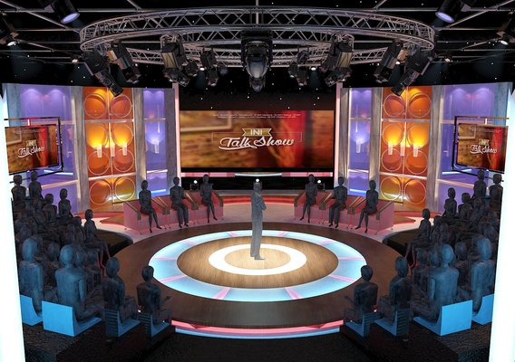 Virtual TV Studio Entertainment Set 3