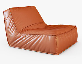 Zoe low lounge chair 3D model