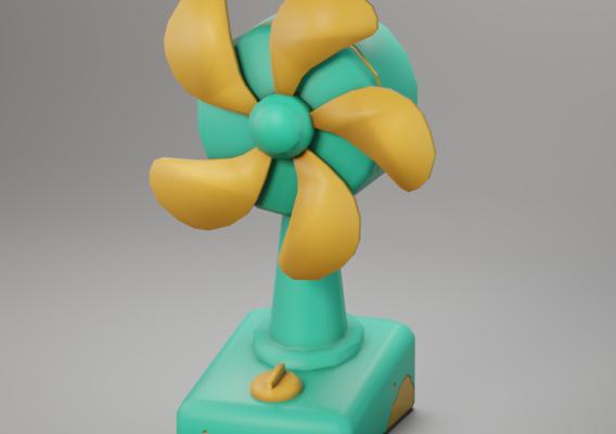 Stylized Desk Fan