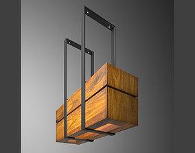 3D model wooden light small