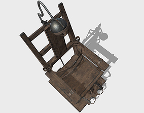 Low Poly PBR Electric Chair 3D model