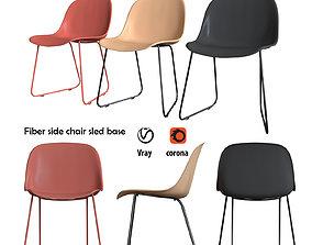 Fiber side chair sled base 3D