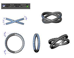 cross over ring 3D printable model