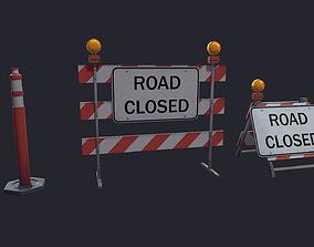 3D model Road Block Closure