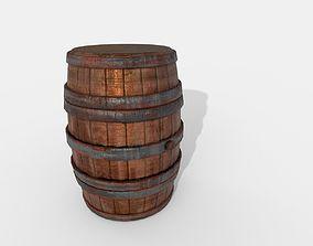 Worn Wooden Barrel 3D