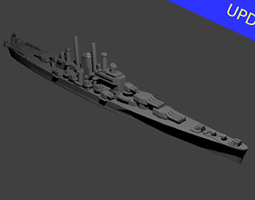3D printable model US Des Moines Class Cruiser Warship