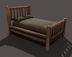 Viking Style Bed 3D model
