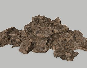 environment 3D model game-ready Rock Set