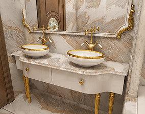 classic luxury bathroom 3D
