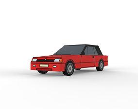 3D model Car sedan low-poly