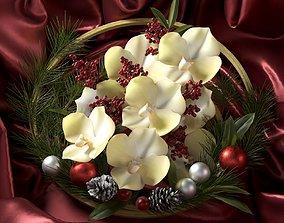 ring 3D model Christmas Wreath