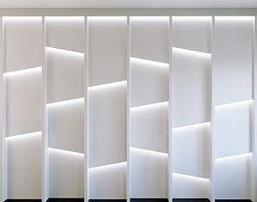 Wall Panel Set 160 strip 3D model