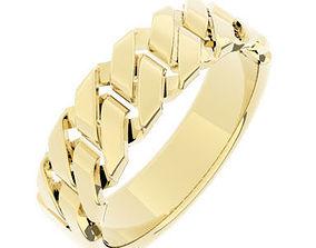 3D print model Chain Link Ladies Ring - UK Size N