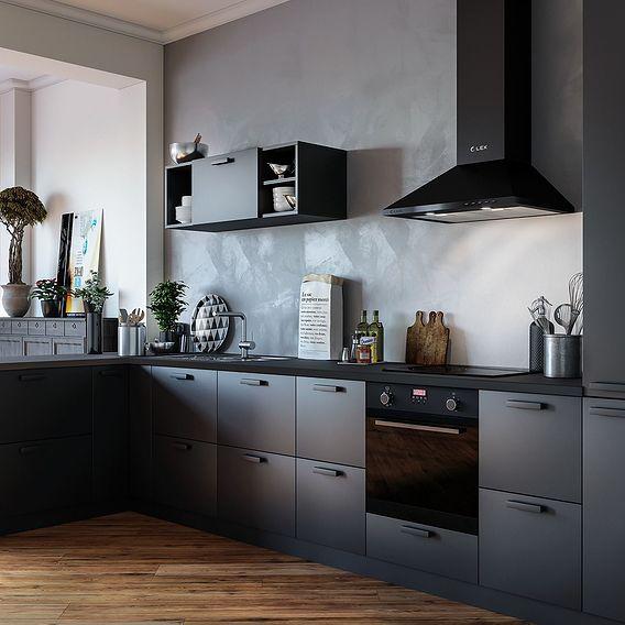 visualization black kitchens