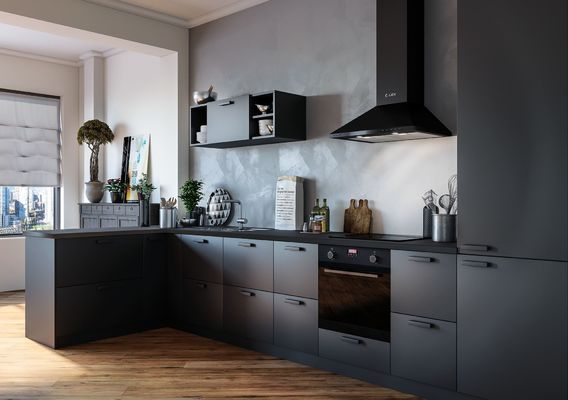 visualization black kitchens
