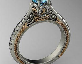 3D printable model engagement ring high detail