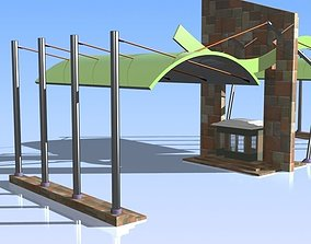 3D model Fence and Gate 03