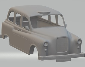 British Old Taxi Printable Body Car