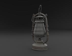 3D Scanned Old Kerosene Lamp RAW SCAN