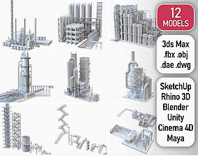 3D asset Industrial Manufacture Collection