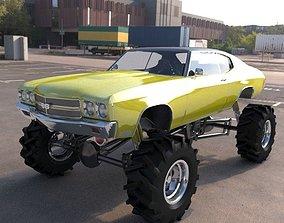monster car vray 3D model