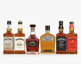 3D model Jack Daniels Bottles Collection