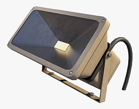 Floodlight Low Poly 3D model