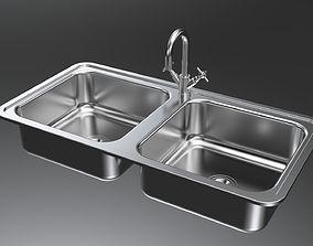 Metallic Sinks 3D model