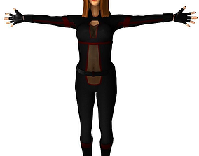 3D model Black Widow inspired char