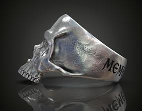 3D print model Skull ring engraving Memento mori