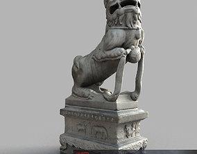 3D asset Lion-Statue-013M