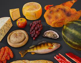 12 Medieval Food Props 3D