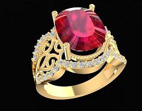 3D printable model 1714 Oval Diamond Ring