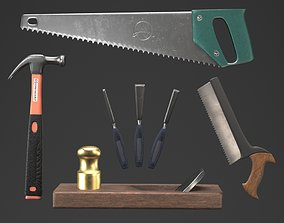 3D Carpentry tools With a fancy bloody fancy texture for 1