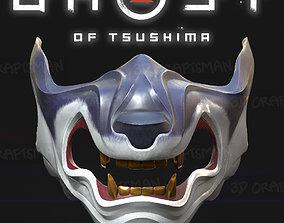 GHOST OF TSUSHIMA - Wolf of Tsushima Mask Fan Art PBR 1
