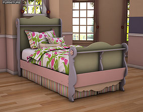 3D model Asley Doll House Twin Sleigh Bed