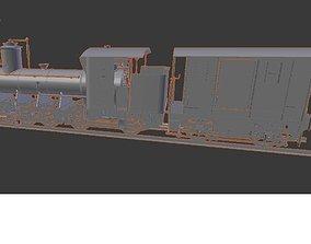 Model train steam locomotive for printing