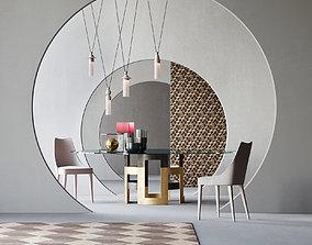 decoration Aesthetic interior scene 3D