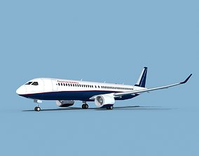 Airbus A320-300 Frontiers America 3D model
