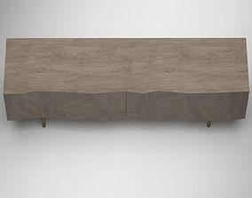 Grey Brown Modern Cabinet 3D