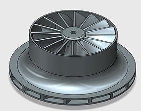 Impeller for centrifugal compressor 3D print model