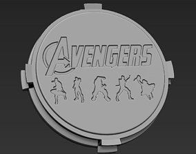 Decorative Avengers Base Stand for 3D print model