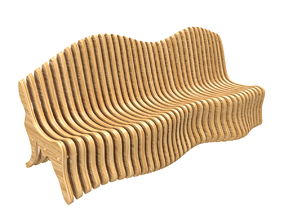 3D model Parametric Bench outdoor