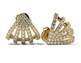 Beautiful Earrings Seashell 3D printable model