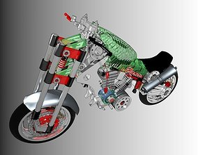 3D model Prototipo Chassis Motorcycle
