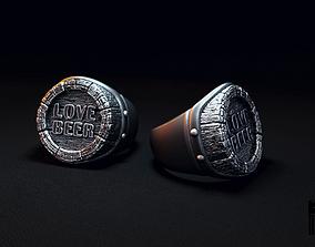 signet ring love beer 3D printable model
